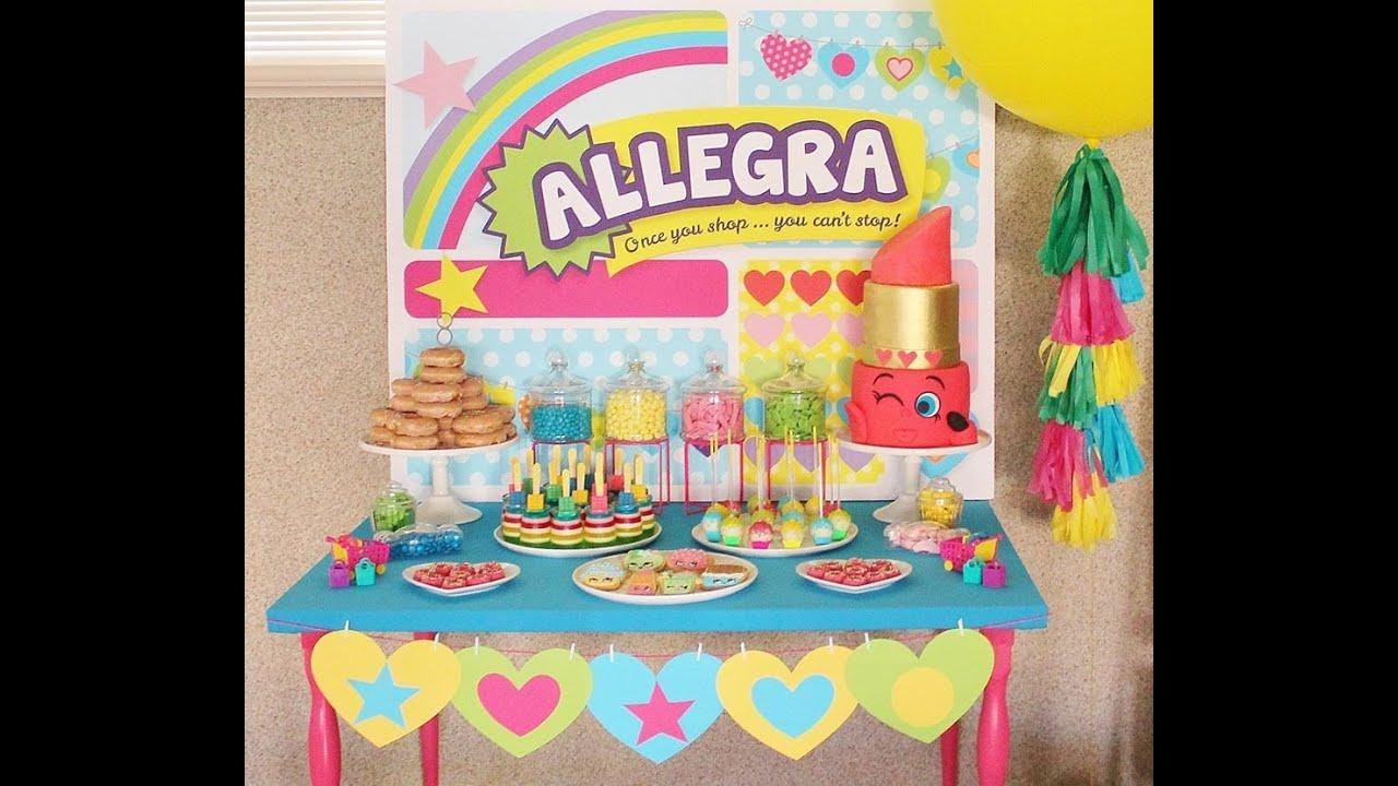 Shopkins Birthday Party Youtube