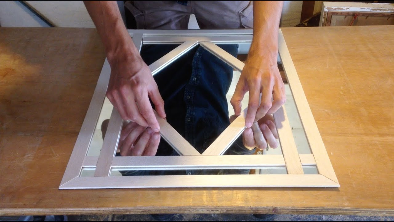 how to make a decorative mirror frame