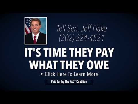Tell Congress: Oppose Offshore Giveaways in the Tax Plan (Flake)