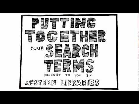 Putting Together your Search Terms
