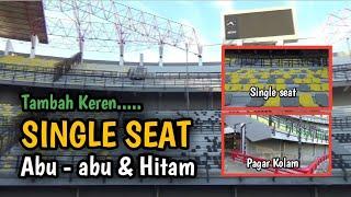 KEREN ‼️ MULAI KOMPLIT SINGLE SEAT HITAM & ABU - ABU TERPASANG DI STADION GELORA BUNG TOMO