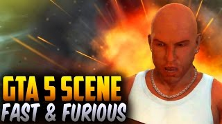 GTA 5 Fast and Furious 6 Flip Car Scene (GTA 5 Movie Scene & Side By Side Comparison)
