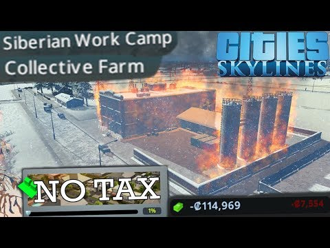 Building the Perfect Socialist Paradise with no Tax - Cities Skylines Industry Only Challenge |