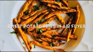 Sweet Potato Fries in Air Fryer Recipe   Air Fryer Sweet Potato Fries