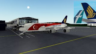SINGAPORE AIRLINES | Economy Class | Airbus 380 | ROBLOX