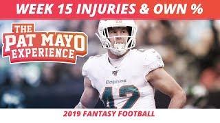2019 Fantasy Football Rankings — NFL Week 15 Injuries, Updated Rankings, DraftKings Picks, Spreads