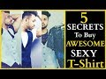 5 SECRETS TO BUY THE AWESOME T-SHIRTS| T-SHIRT| OVER WEIGHT| SKINNY| SHORT| MEN'S WARDROBE SERIES E3