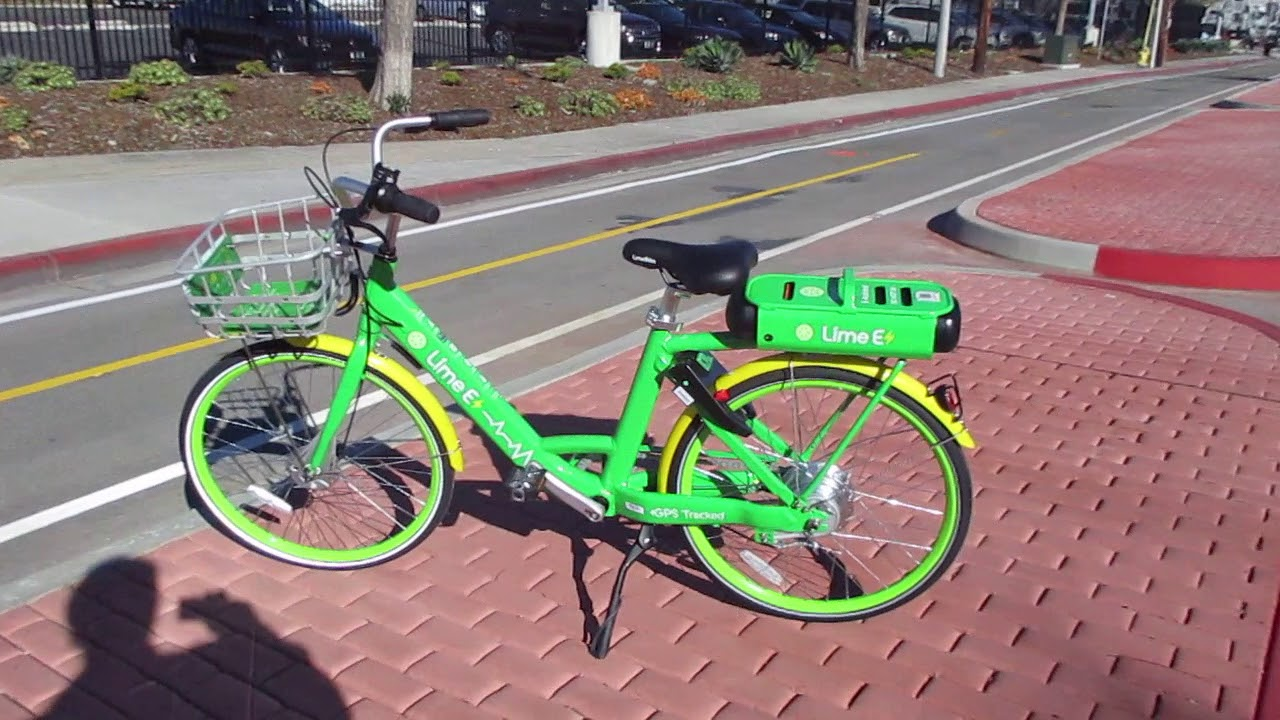 lime e bike electric bike share in san diego youtube. Black Bedroom Furniture Sets. Home Design Ideas