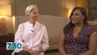 Emma Thompson and Mindy Kaling discuss their new movie Late Night | 7.30