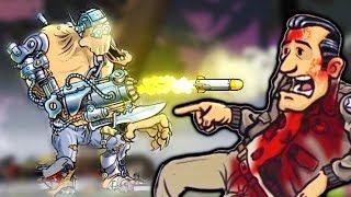 МОНСТР ТЕРМИНАТОР и Босс на Танке #6 Игра как мультик про зомби, монстров Guns, Gore & Cannoli 2