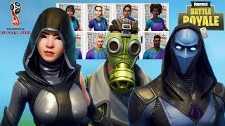 THE NEW SPECIAL SKINS WORLD CUP 2018 FORTNITE BATTLE ROYALE