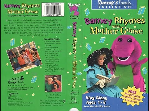Barney Rhymes with Mother Goose [VHS] (1993)