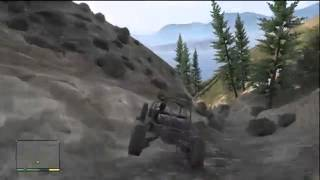 GTA 5 GOING DOWN THE BIGGEST HILL IN THE GAME IN A UNBREAKABLE SECRET BUGGIE