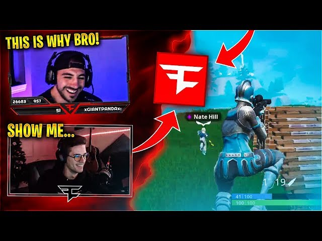 Showing Nate Hill Why Im in FaZe! Feat. Timthetatman & Swanzzy