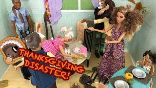 THANKSGIVING 2017 Dinner! Food and Turkey Grandparents Visit | Naiah and Elli Doll Show #9