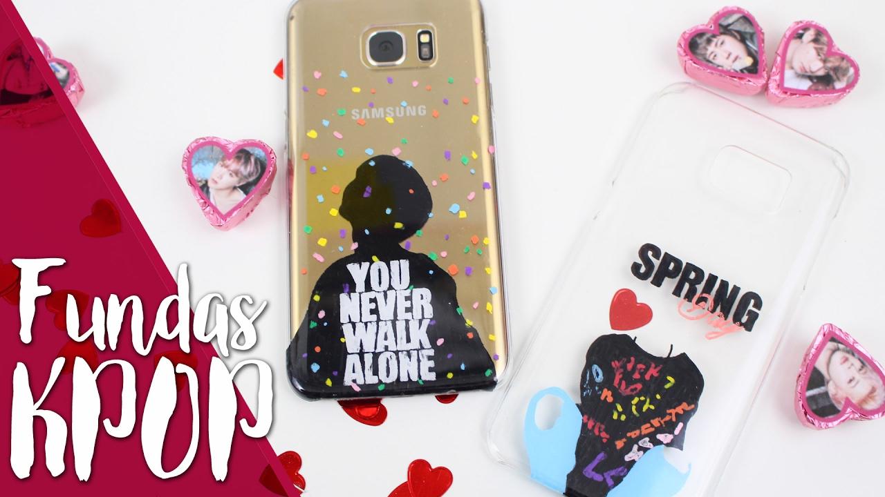 a25ac487434 DIY KPOP: 4 ideas para personalizar fundas |Kfreak| BTS, 봄날, Spring day  |You never walk alone| - YouTube