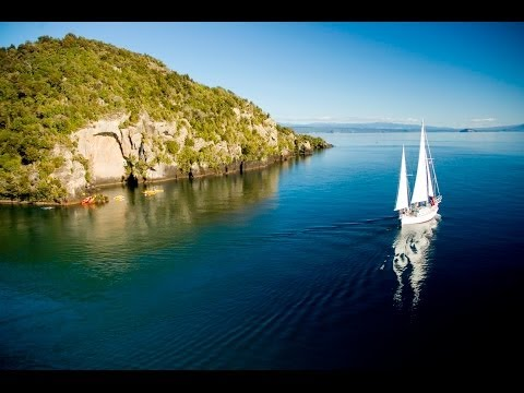 Lake Taupo central North Island of New Zealand. famous for its trout fishing & fly fishing