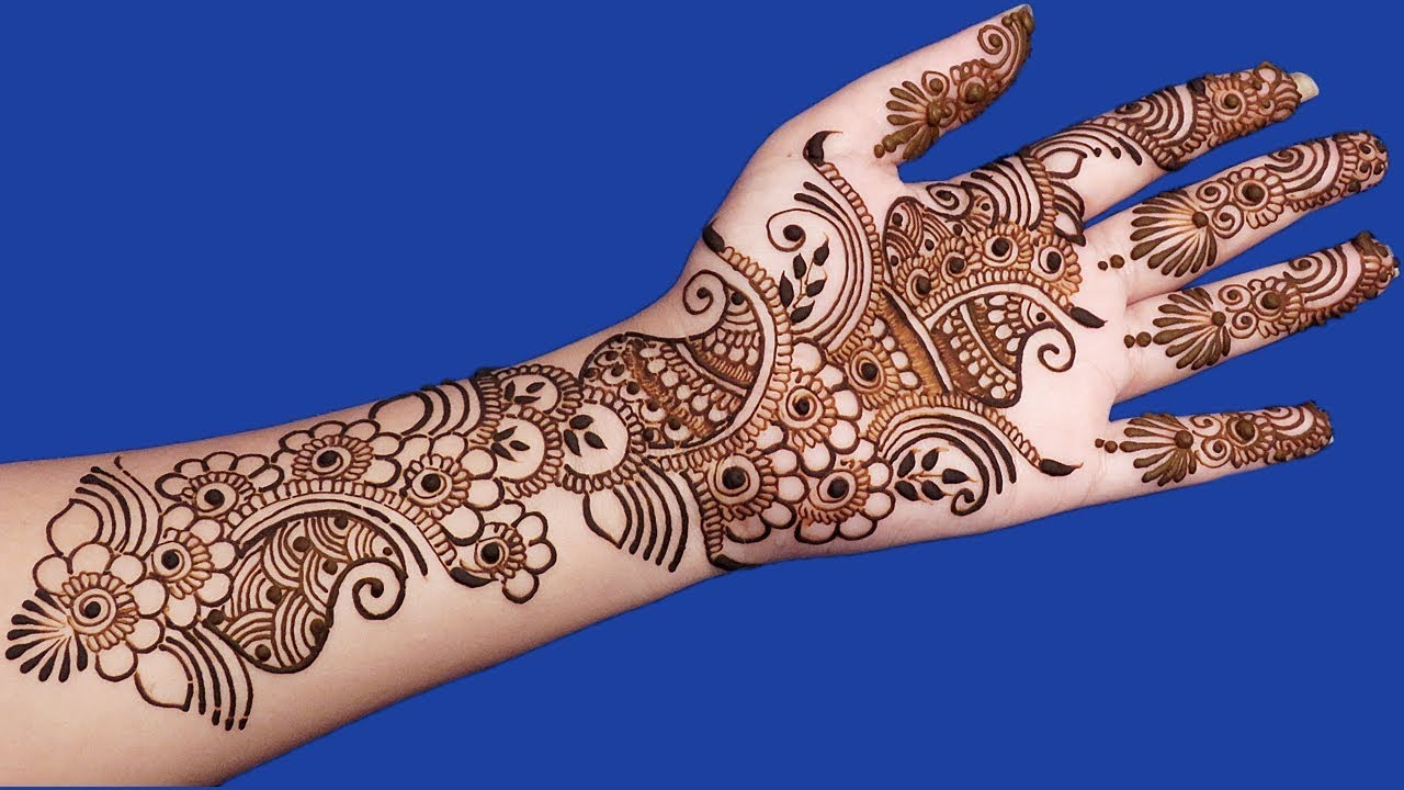 Simple Arabic Mehndi Designs For Full Hands