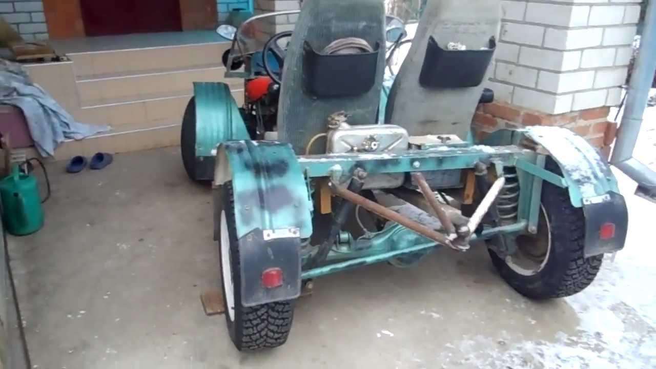 366Самодельная машина на электродвигателе
