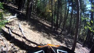 KTM250 SX Woods Riding   Climbing the BIG HILL Towards the top of Foots Creek!