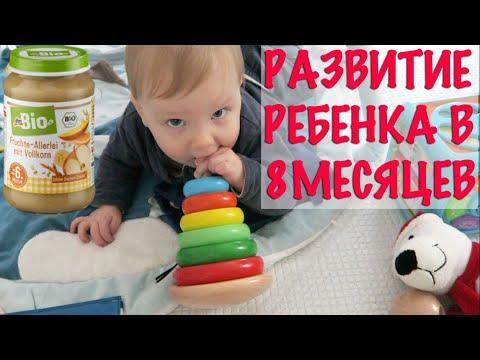 Развитие ребенка в 8 месяцев. Лучшие игрушки и питание