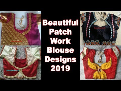 latest-beautiful-patch-work-blouse-back-neck-designs-collection-for-designer-sarees