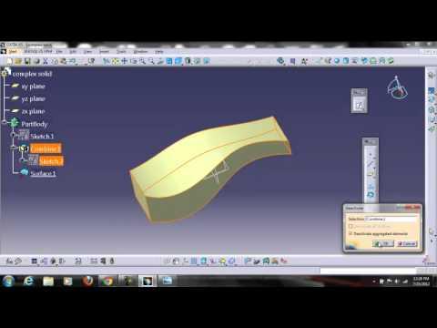 Catia v5 complex solid modelling