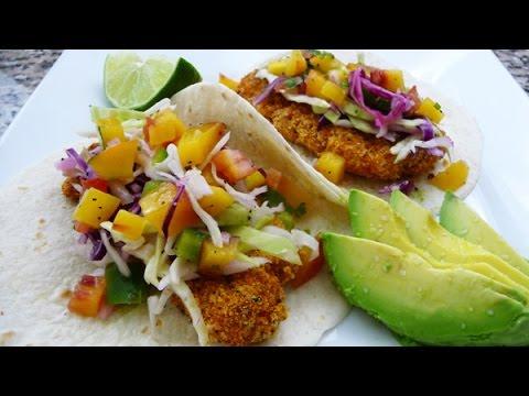 Fish Tacos With Peach Pico De Gallo, Recipe, How To