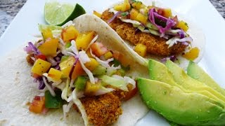 Fish Tacos With Peach Pico De Gallo, Recipe, How To