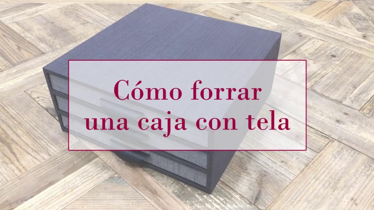 C mo forrar una caja de madera con tela diy tutorial for Forrar cajas de carton con tela