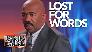 STEVE HARVEY CANT BELIEVE WHAT HE JUST HEARD! Family Feud USA