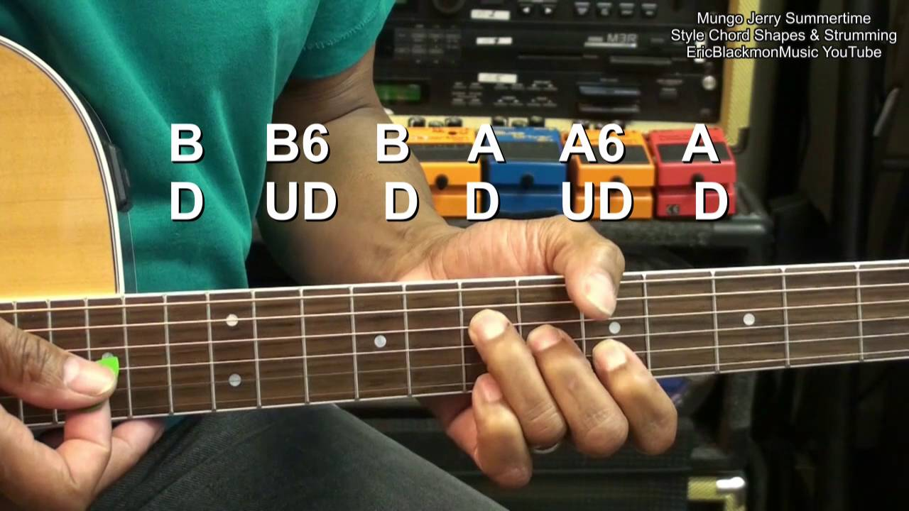 how to play in the summertime on guitar