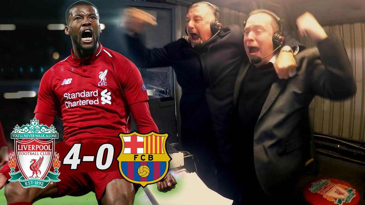 Corner Taken Quickly Origi Liverpool 4 0 Barcelona Commentator Reactions Youtube