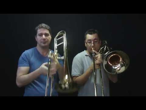 Carlos Freitas and Ricardo Santos  - Small, Shostakovich and Woud - Trombone Duet!