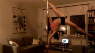 Advanced pole dance combos, spinning pole