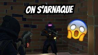 ON S'ARNAQUE PUIS ON ÉCHANGE FORTNITE SAUVER LE MONDE !!!