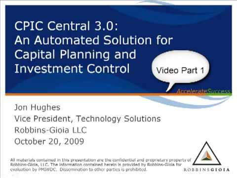 PMI Tool Time - CPIC Central Demo Part 1