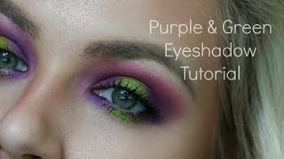 Purple & Green Shadow Tutorial + UD ELECTRIC Palette Thumbnail