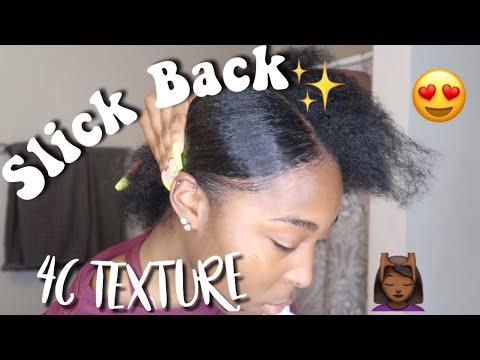 how-to-:-slick-4c-natural-hair-back-(short--medium-length)-slick-back-on-4c-texture