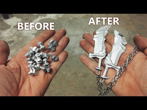 Turn Aluminum Bolts Into Mini Blades Of Chaos (God Of War)