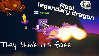 LEGENDARY DRAGON PRANK! They think it's fake | Growtopia