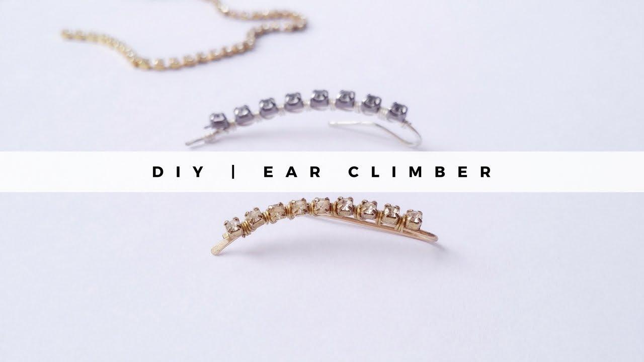 DIY Ear climber - YouTube