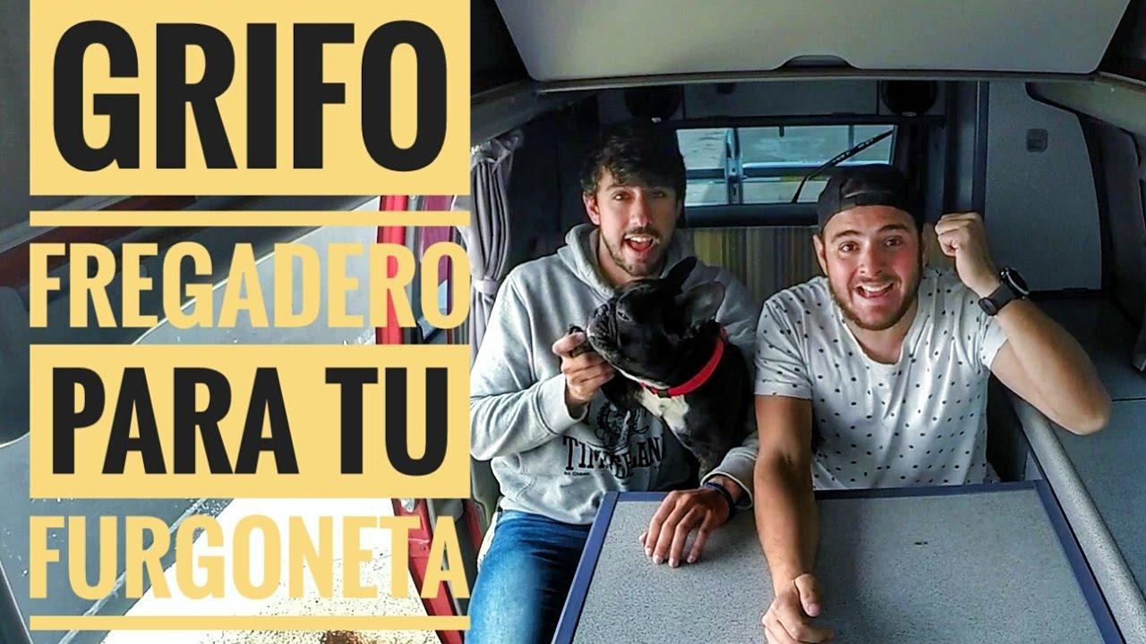 Grifo fregadero para tu furgoneta youtube for Grifo fregadero pared