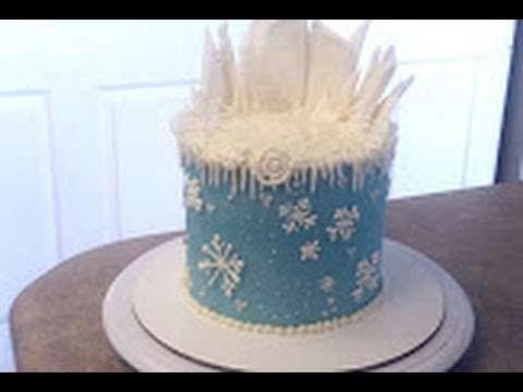 FROZEN Elsa Theme Birthday Cake Cake Decorating YouTube