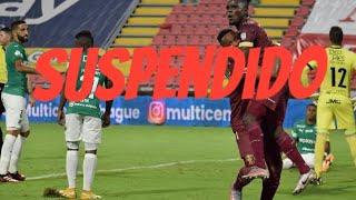 Vuelve y juega: otra vez se suspende el partido entre Cali y Tolima