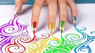 10 Ausgefallene Nails Hacks - Back To School Nails Mit Schulsachen!