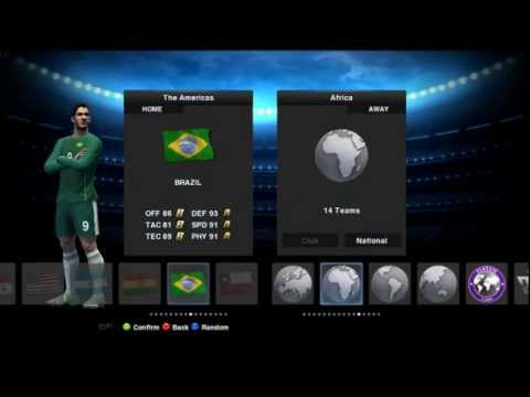 PES 13 Brazil vs España intro y 1er Tiempo