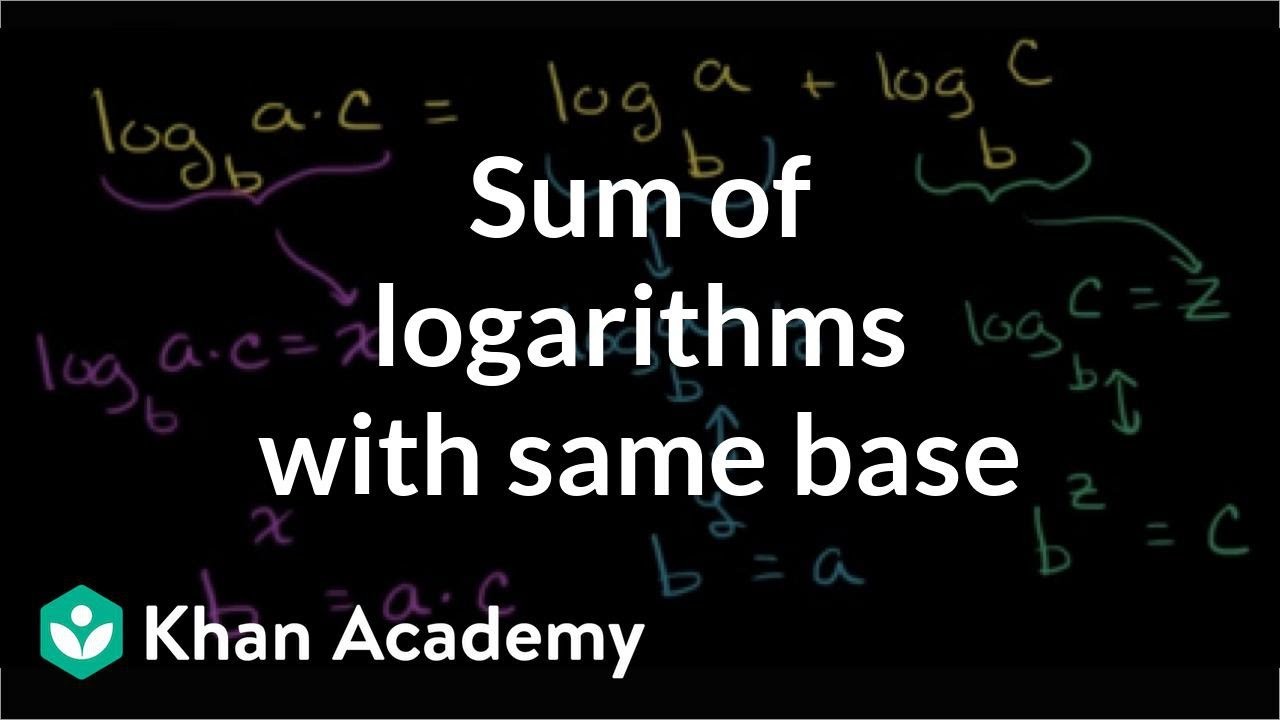 how to work with logarithms