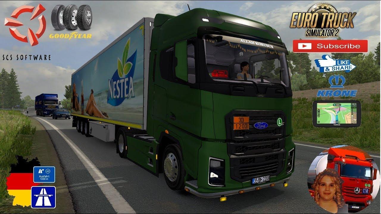 Euro Truck Simulator 2 (1 35) Ford F-Max v 1 1 [1 35] Krone Trailer TZ  Espress + DLC's & Mods