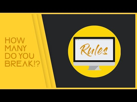 6 Graphic Design Rules You Should NEVER Break!